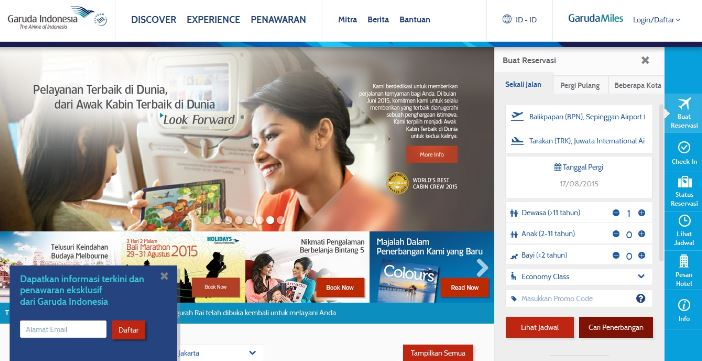 Website Garuda Indonesia