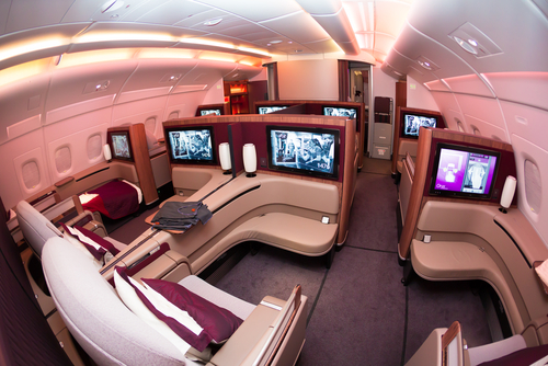 First Class Qatar Airways