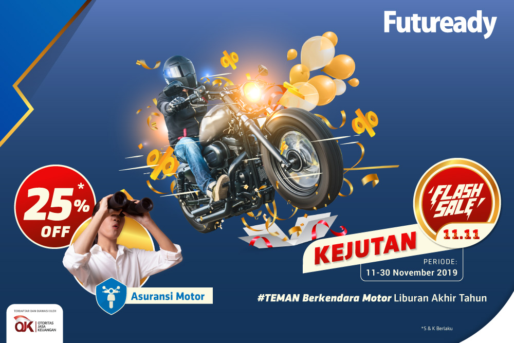 asuransi motor Futuready Flash Sale 11.11
