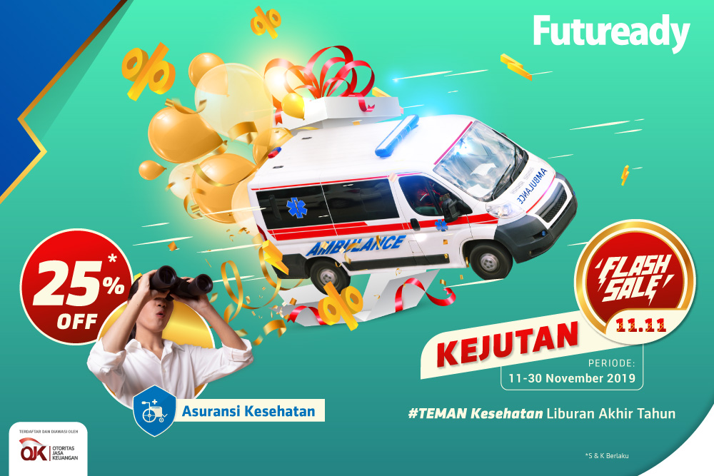 asuransi kesehatan Futuready Flash Sale 11.11
