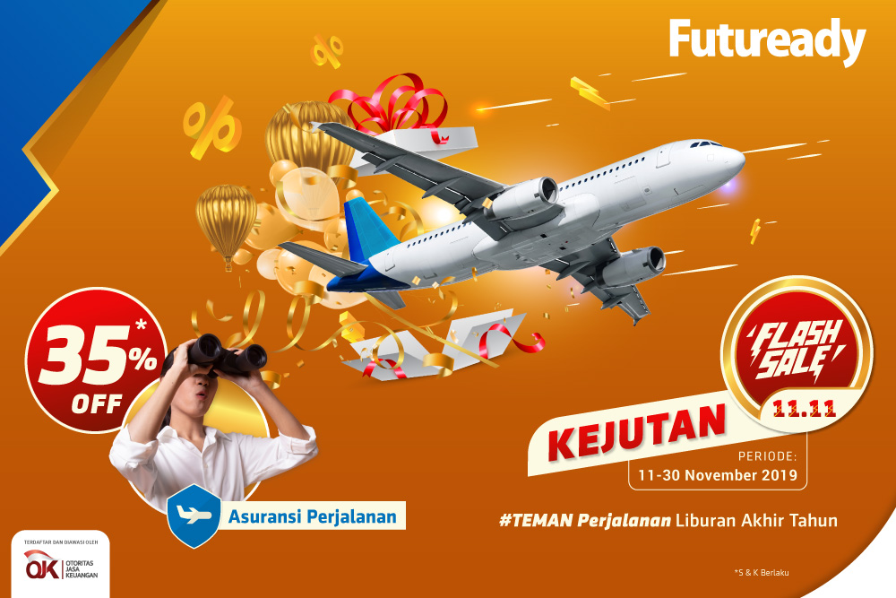 asuransi perjalanan Flash Sale 11.11